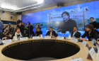 News conference on establishment of Voters' League