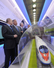 Vladimir Putin visits Russian Railways Company's Research Center