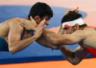 2016 Summer Olympics. Freestyle wrestling. Men. Day One