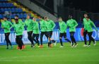 Football. League of Champions. PSV holds training session